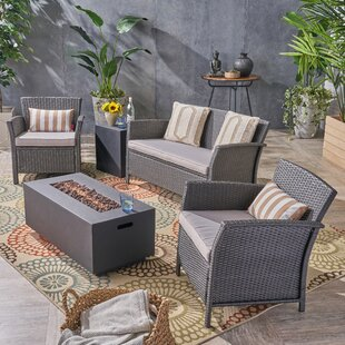 Meriam 5 Pieces in Set Rattan Sofa Seating Group