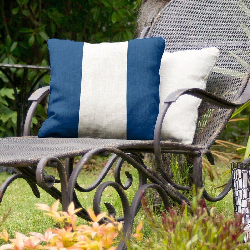 East Urban Home Tampa Bay Hockey Indoor Outdoor Striped Throw Pillow Wayfair