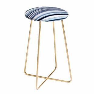 Ninola Design Sea Stripes 30 Bar Stool by East Urban Home Best #1
