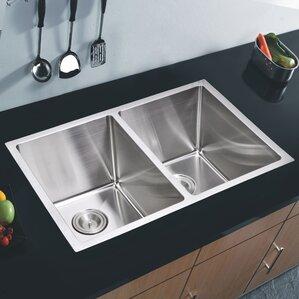 Brier 30 88 X 17 75 Double Undermount Kitchen Sink