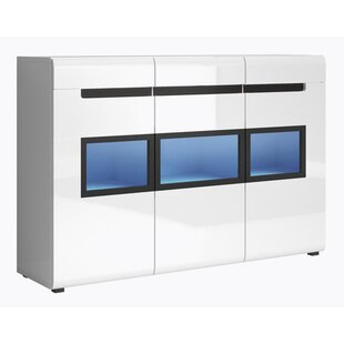 Korina Gloss Side Accent Cabinet by Orren Ellis