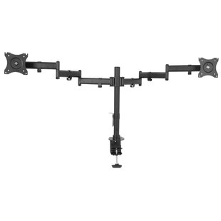 Dual Monitor Extending Arm Pole Mount for 33