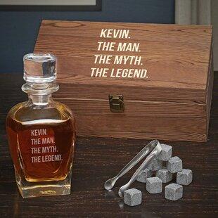 Devine Man Myth Legend Personalized Whiskey 24 Oz. Decanter by Alcott Hill