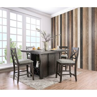 Gracie Oaks Rich Counter Height Dining Ta..