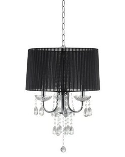 Major-Q Crystal Inspired 3-Light Chandelier