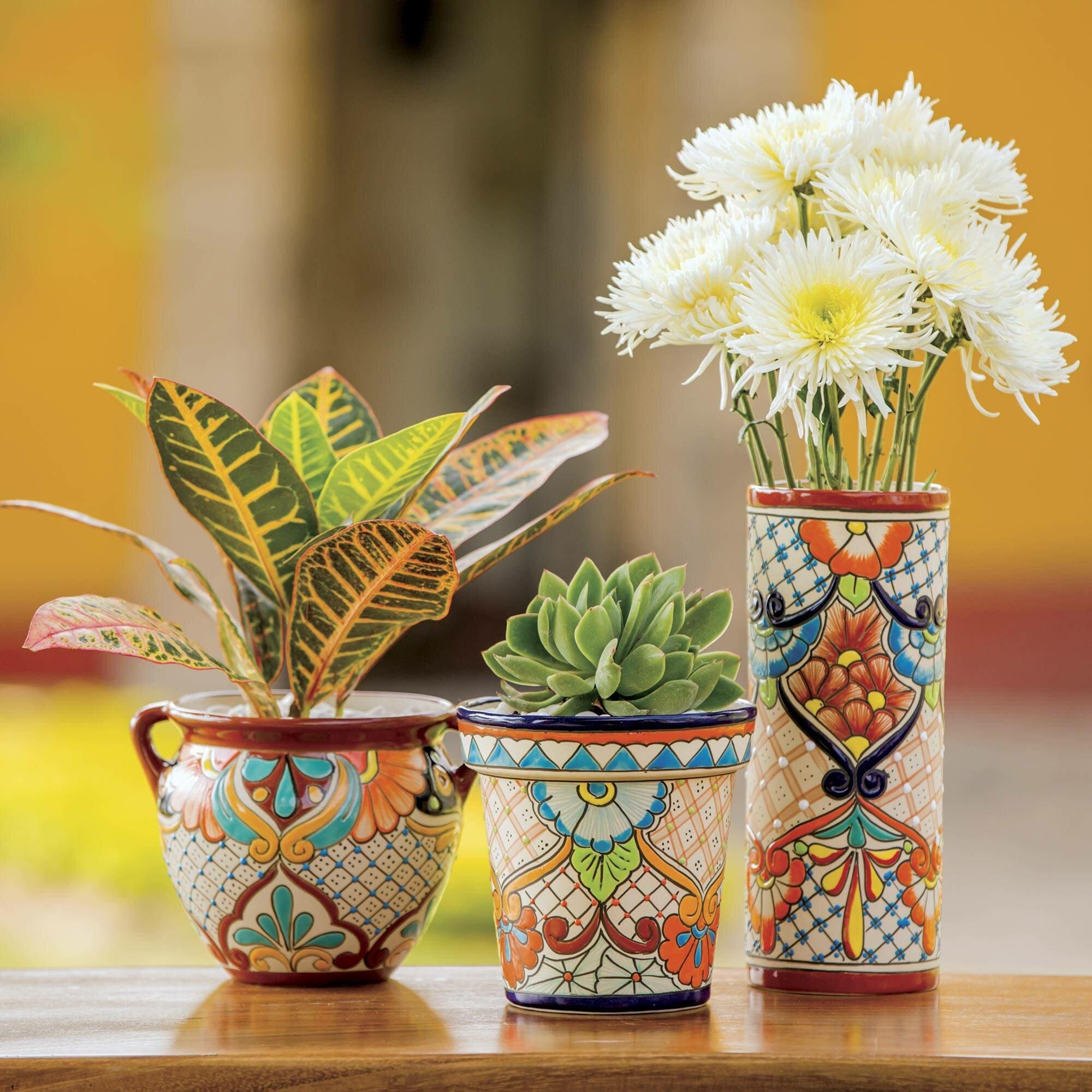 World Menagerie Pendergrast Ceramic Pot Planter Wayfair