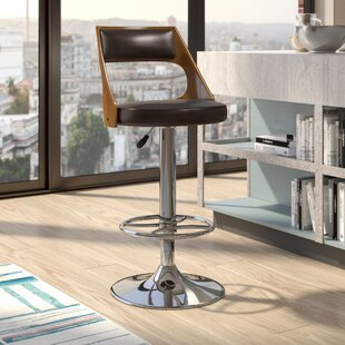 Conejara Adjustable Height Swivel Bar Stool by Langley Street New