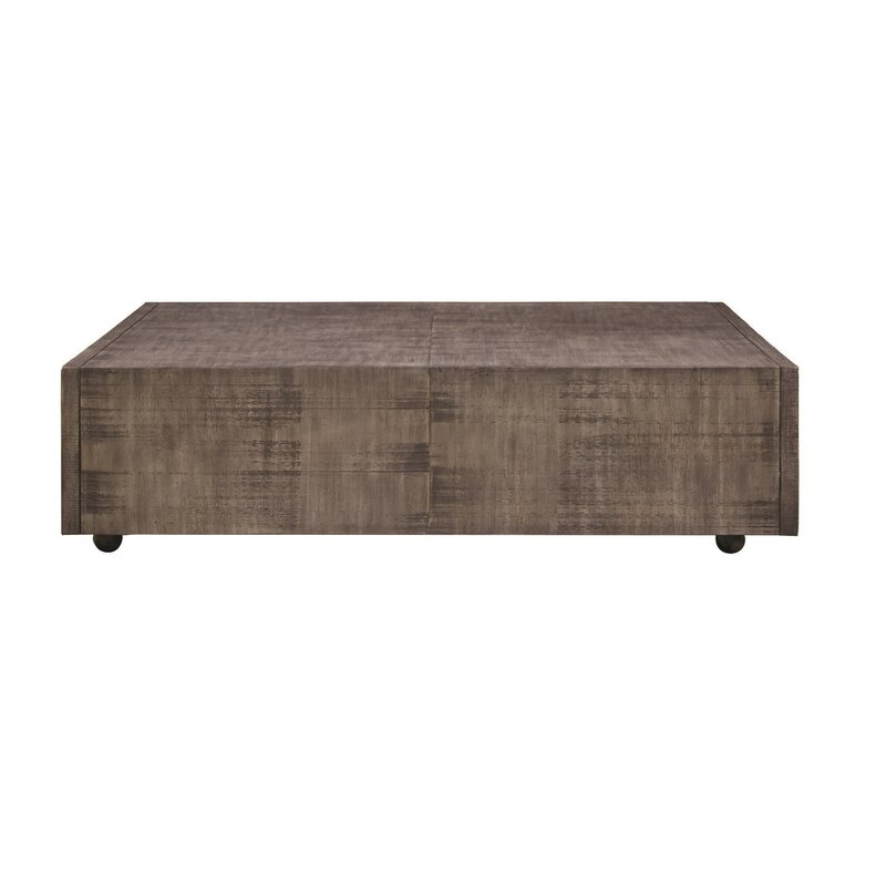 17 Stories Balfour Square Coffee Table With Casters Wayfair