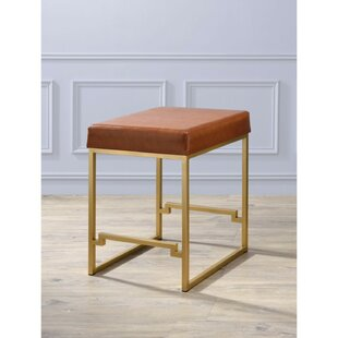 Refugio Metallic 25 Bar Stool Everly Quinn