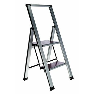 nickolas folding 2 step ladder with 250 lb load capacity - Kitchen Step Ladder