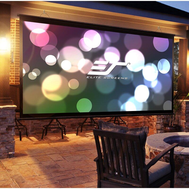 Elite Screens Diy Wall 3 Series White Portable Projection Screen Reviews Wayfair