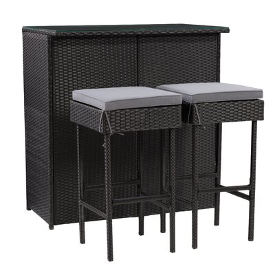 Floresville 3-Piece Bar Set by Latitude Run No Copoun
