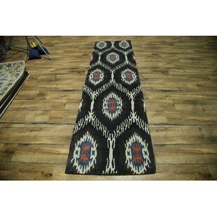 Big Save Bovill Oriental Hand-Tufted Wool Black Area Rug ByCanora Grey