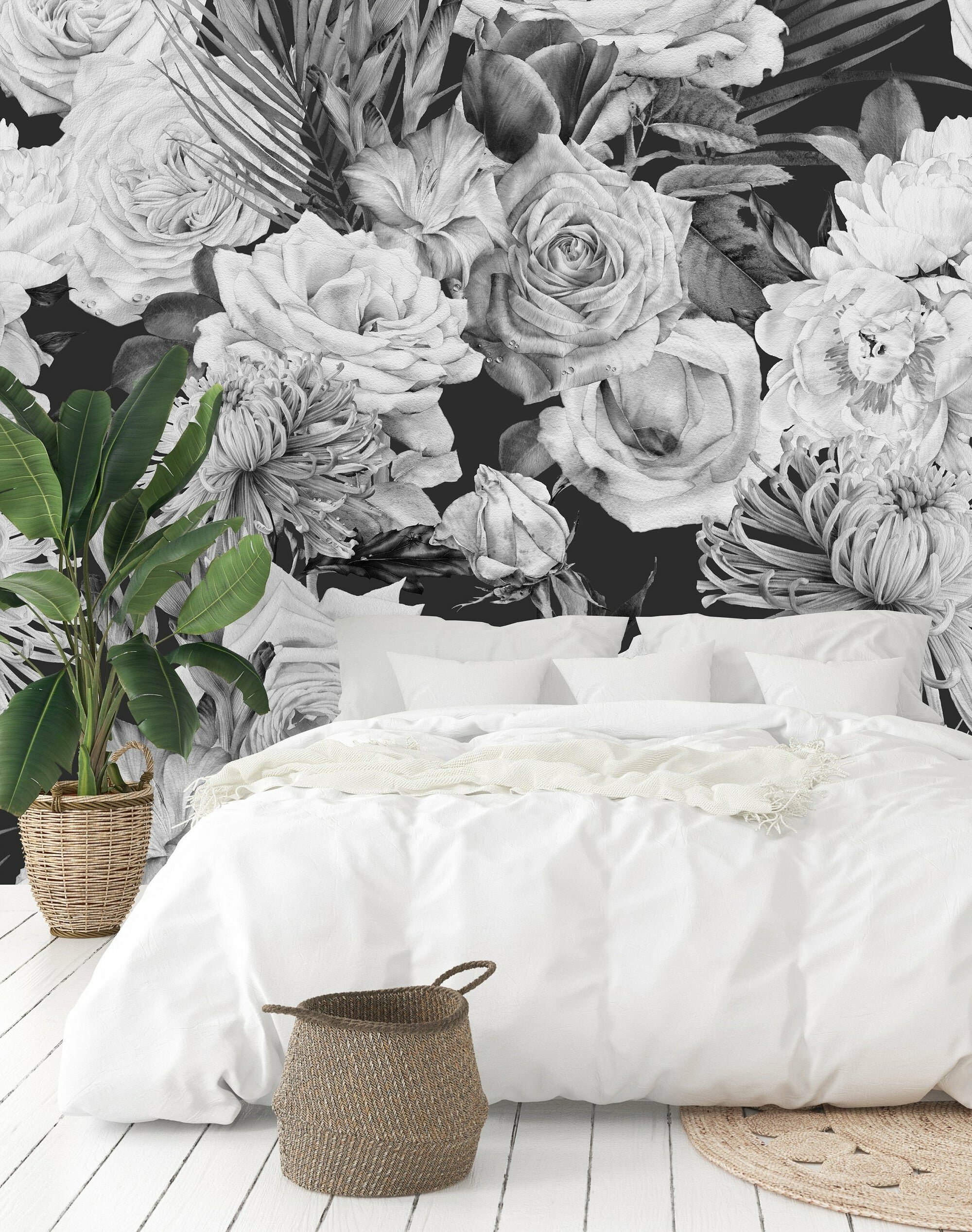 Uniqstiq Vintage Floral Mix Paintable Wall Mural Reviews Wayfair