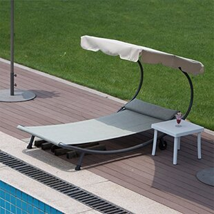 Hammock Reclining Chaise Lounge with Cushion by Abba Patio