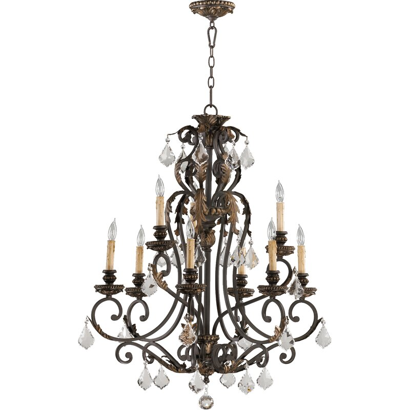 Astoria Grand Ancram 9 Light Candle Style Classic Traditional Chandelier Wayfair