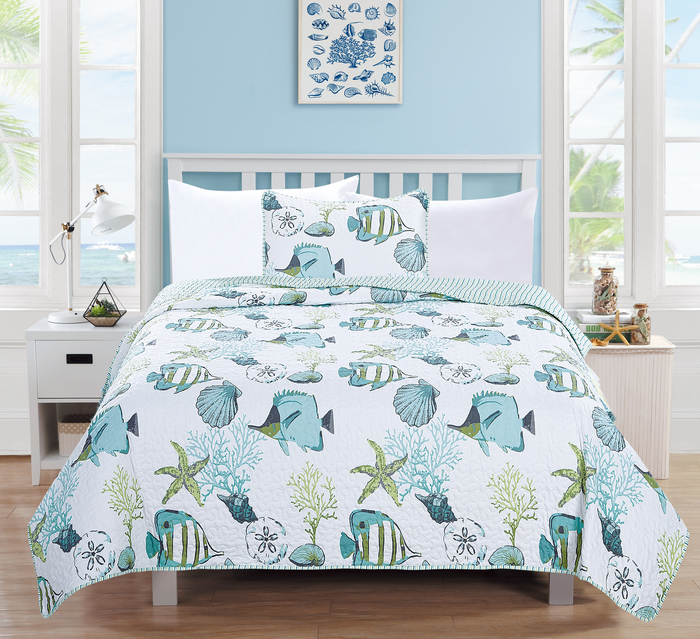 picturesque better homes and gardens quilts. Seaside Reversible Quilt Set by Home Fashion Designs Valencia Wayfair  Picturesque Better Homes And Gardens Quilts Design Plan