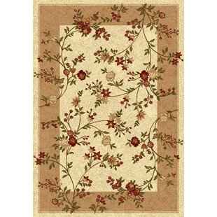 Barrymore Beige Rug by Charlton Home