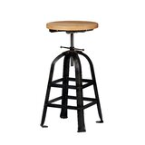Zilio Swivel Solid Wood Adjustable Height Bar Stool (Set of 50) by sohoConcept