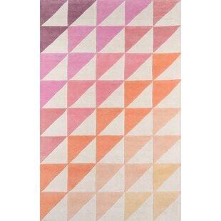 Agatha Side Hand Tufted Pink Brown Area Rug