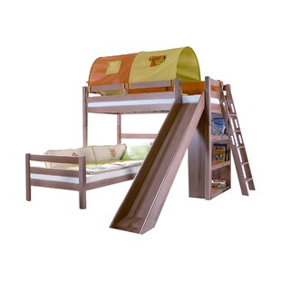 Narron European Single L-Shaped Bed With Bookcase And With Tunnel By Zoomie Kids