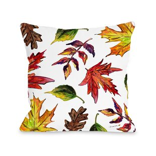 Roncy Fall Leaves Throw Pillow