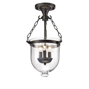 Levan 3-Light Semi Flush Mount by Gracie Oaks