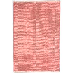 Herringbone Hand Woven Pink Area Rug