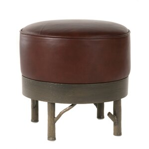 Norfork Leather Ottoman by Stone County Iron..