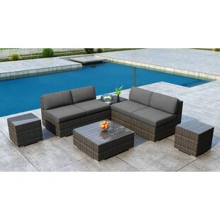 Gilleland 8 Piece Sectional Set with Sunbrella Cushion by Orren Ellis