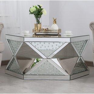 Rosdorf Park Aarush Mirrored Coffee Table
