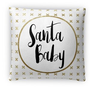 Santa Baby Fleece Throw Pillow