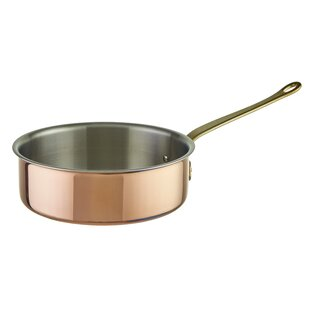 Tri-Ply Copper Saute Pan with Lid