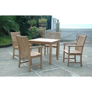Bahama Chicago 5 Piece Teak Dining Set By Anderson Teak