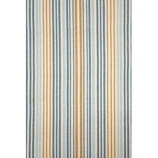 Stockholm Handwoven Cotton Blue Rug by Dash & Albert Europe