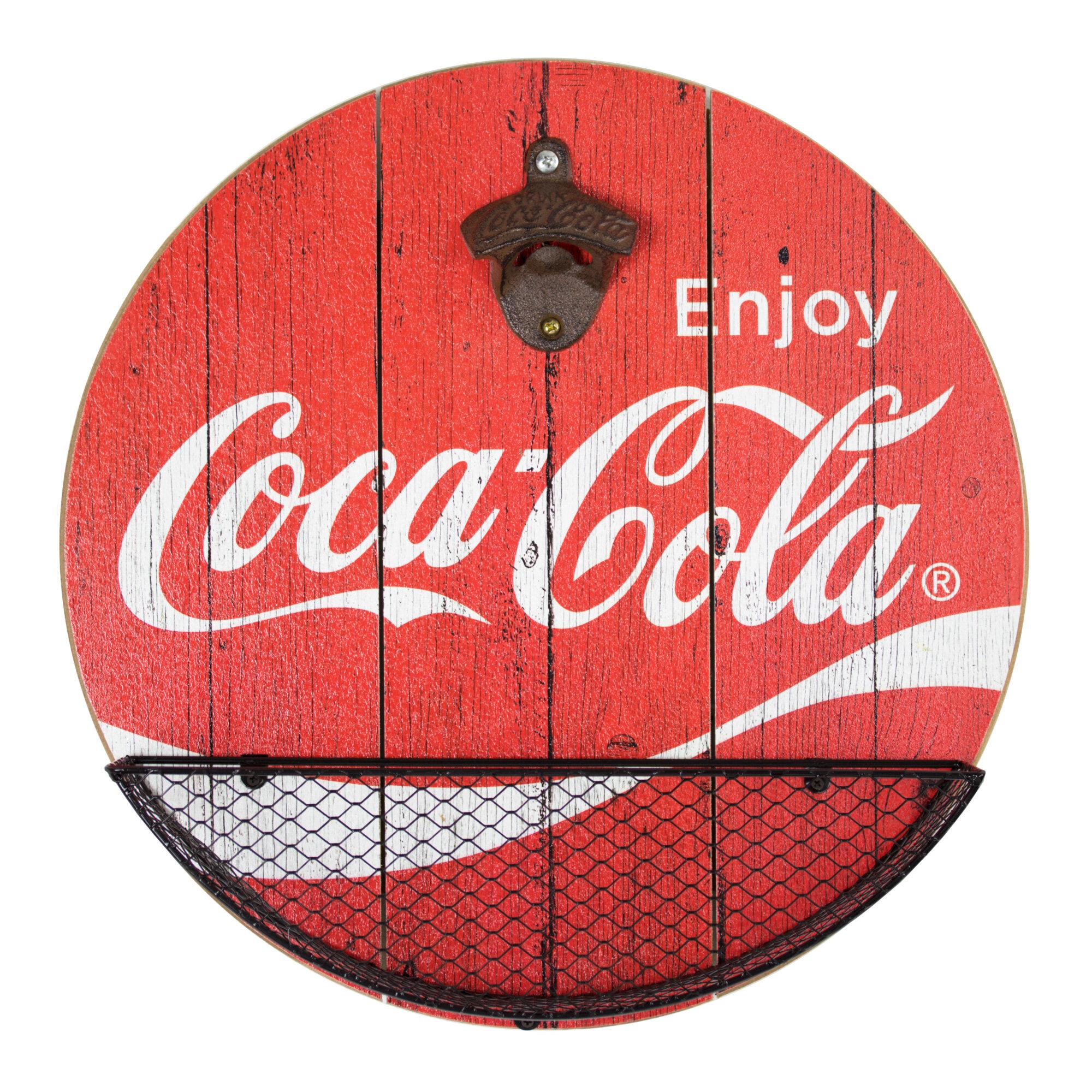 New Coca Cola Red metal wall mounted bottle opener beer opener bar opener tool