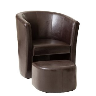 Hicks Tub Chair And Footstool By George Oliver