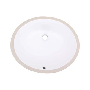 Reviews Ceramic Oval Undermount Bathroom Sink with Overflow By Royal Purple Bath Kitchen