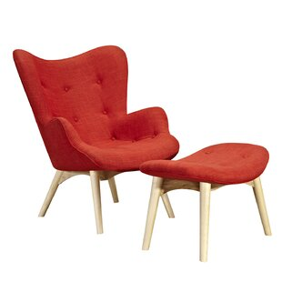 Beau Red Chair And Ottoman | Wayfair