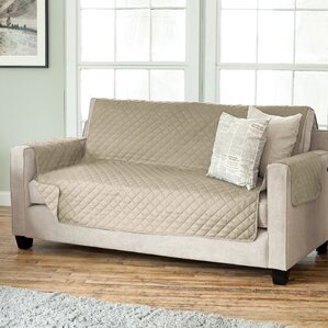 Carnside Diamond Box Cushion Sofa Slipcover by Charlton Home