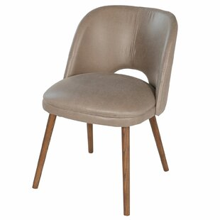 Genuine Leather Upholstered Dining Chair by Joseph Allen
