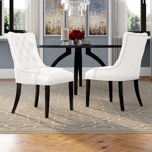 Burnett Upholstered Dining Chair (Set of 2) by Rosdorf Park