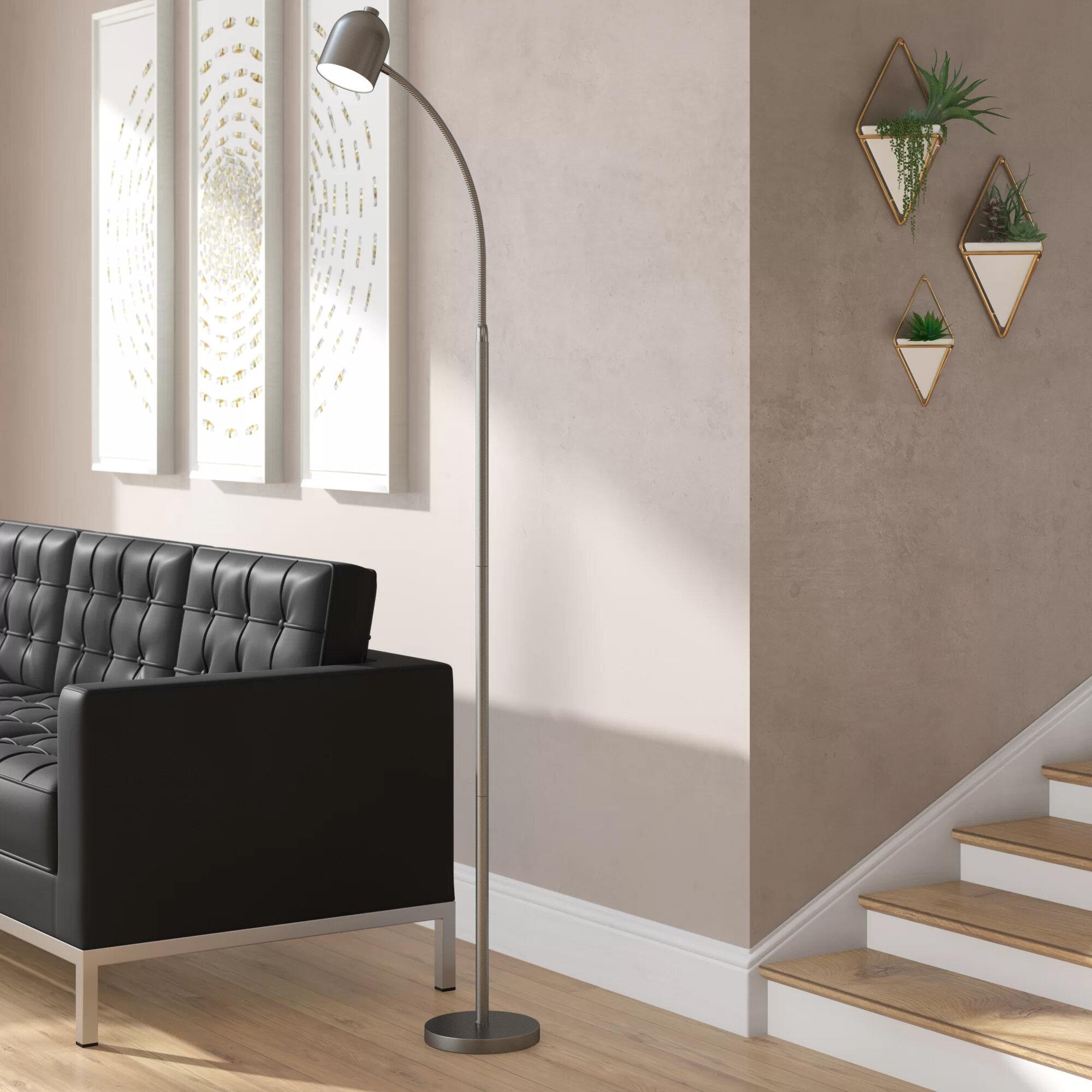 Ebern Designs Sam 53 Led Task Reading Floor Lamp Reviews Wayfair