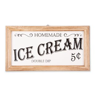 Ice Cream Happiness Sign Door Wall Plaque Kitchen Parlour Cold Sweet