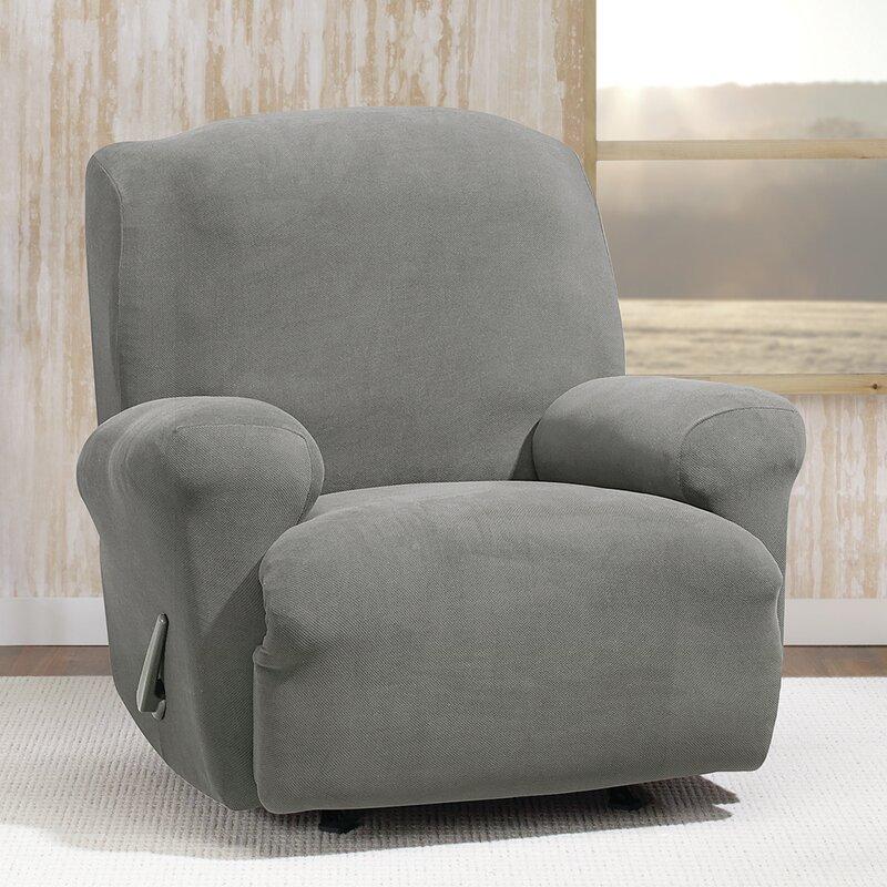 sure fit housse pour fauteuil inclinable à coussins en t