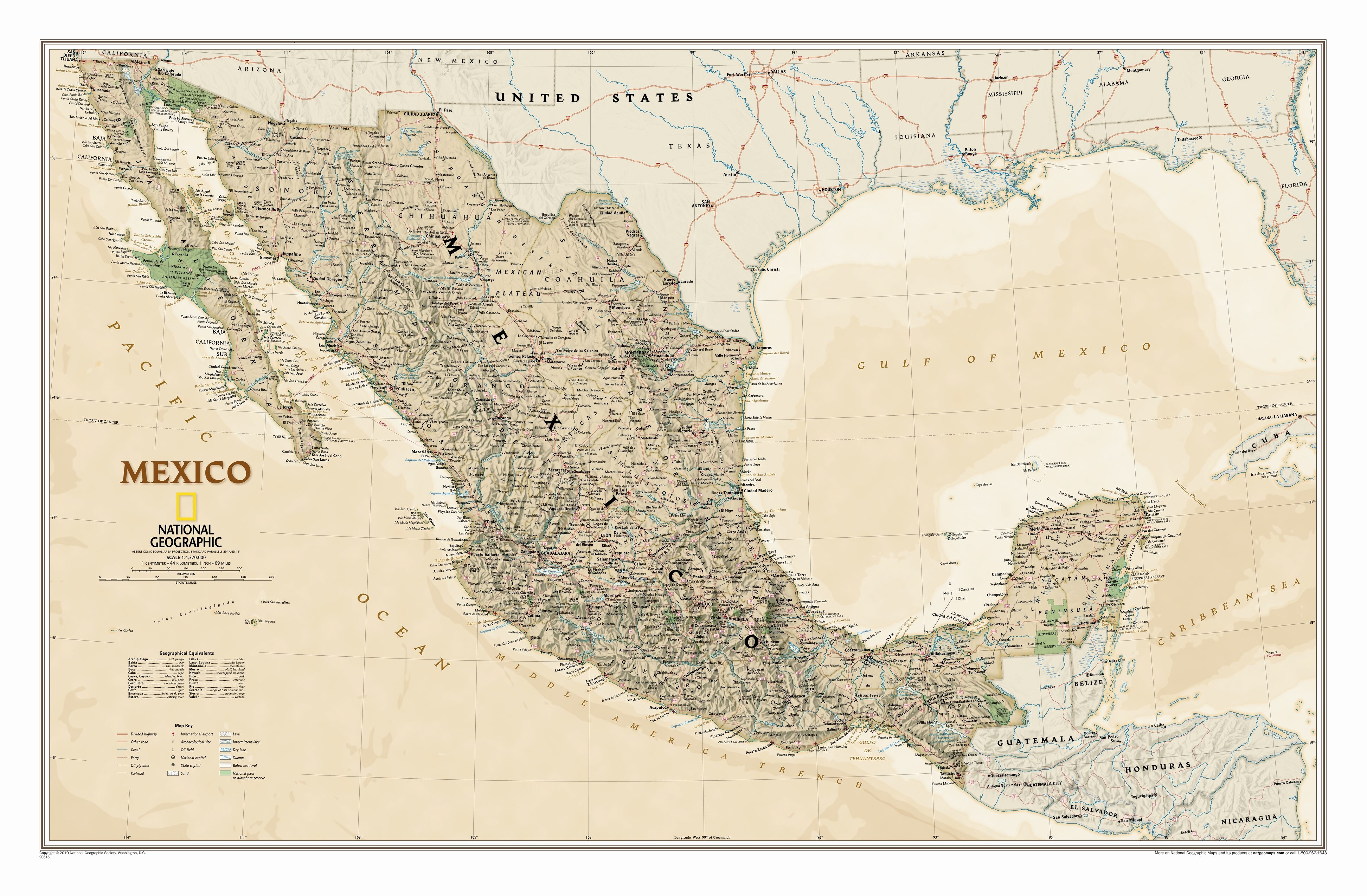 National Geographic Maps Mexico Executive Wall Map Wayfair