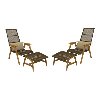 Strange Mistana Largent Teak Patio Chair With Cushions Creativecarmelina Interior Chair Design Creativecarmelinacom