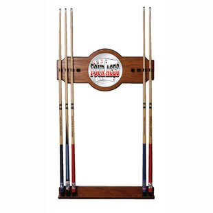 Four Aces 2-Piece Wood and Mirror Wall Cue Rack by Trademark Global