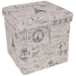 Paris Effiel Tower Storage Cube Ottoman by Songmics