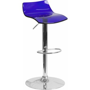 Inexpensive Outen Low Back Adjustable Height Swivel Bar Stool By Wrought Studio